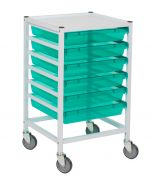 Classic Hospital Trolley With 6 Trays