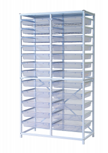Tall double frame set with trays