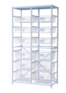Tall double frame set with baskets