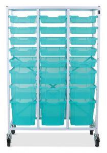 Mobile Storage Frame with Trays