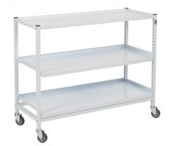 Compact Wide Shelved Medical Trolley Set