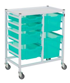 Compact Medical Trolley With 6 Trays